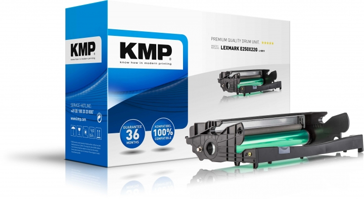 KMP L-DR19 Trommel ersetzt Lexmark (E250X22G)