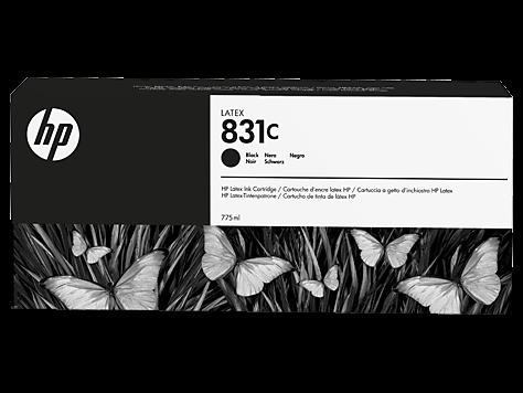 HP 831C Latex-Tinte schwarz 775 ml (CZ694A)