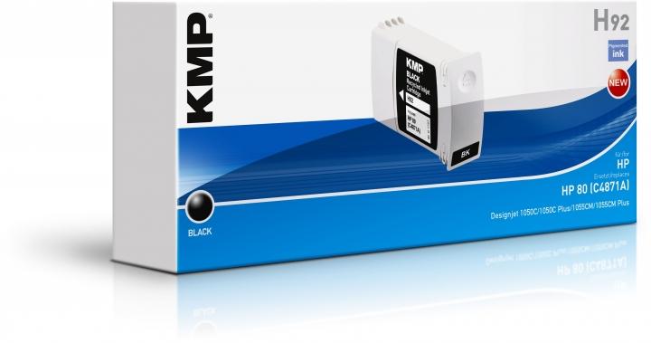 KMP H92 Tinte ersetzt HP 80 (C4871A)