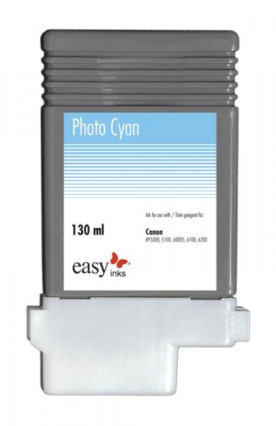 Easy Ink Tintentank Photo Cyan für Canon iPF5100, iPF6100, iPF6200 mit kompatibler PFI-103 Tinte,-