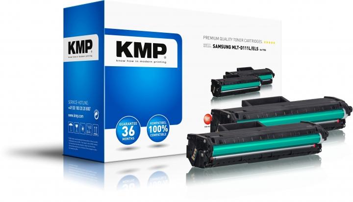 KMP SA-T75D Doppelpack Toner Schwarz ersetzt Samsung 111L (MLTD111LELS)-Copy