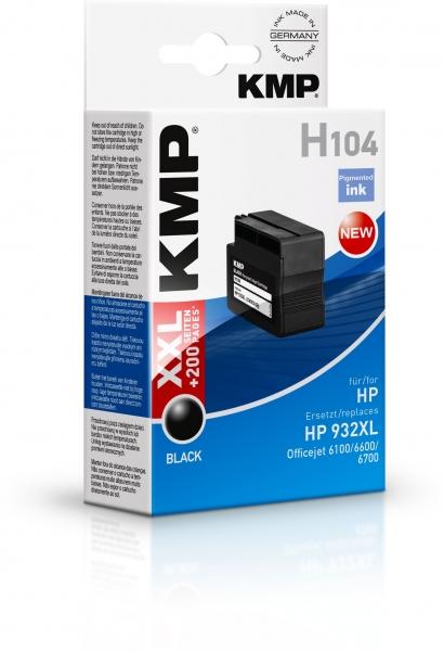 KMP H104 Tinte ersetzt HP 932XL (CN053AE)