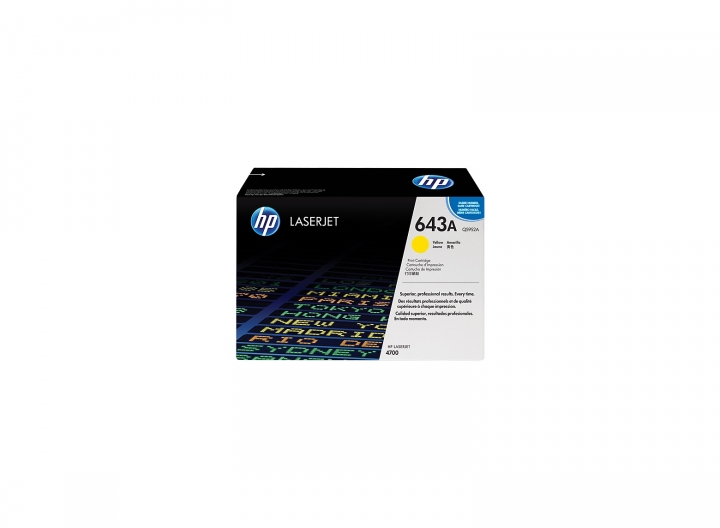 Toner HP Q5952A, Nr 643A gelb 10000 Seiten