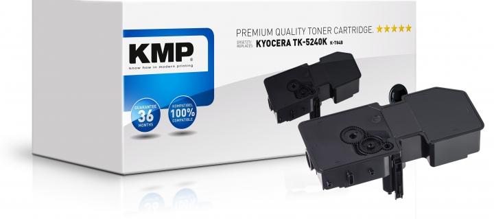 KMP Toner K-T84B Schwarz ersetzt Kyocera TK5240K (1T02R70NL0)