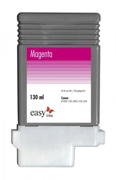 Easy Ink Tintentank Magenta für Canon iPF5100, iPF6100, iPF6200 mit kompatibler PFI-103 Tinte, 130ml