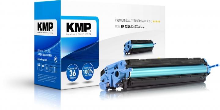 KMP H-T84 Toner ersetzt HP 124A (Q6002A)