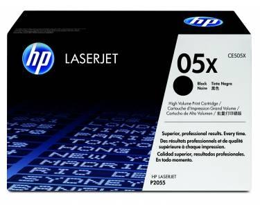 HP 05X LaserJet Tonerkartusche schwarz CE505X, hohe Kapazität