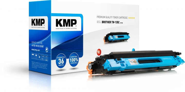 KMP B-T25 Toner für Brother TN-135 cyan / HL-4040/4070/MFC-9440/9840/DCP-9040 cyan