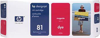 HP 81 Tinte magenta 680ml für DesignJet 5000/PS