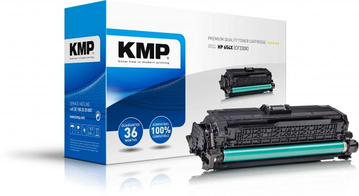 KMP Toner H-T203 Schwarz ersetzt HP 654X (CF330X)