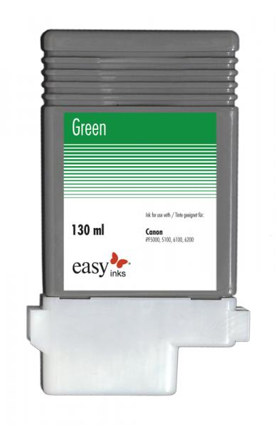 Easy Ink Tintentank Grün für Canon iPF5100, iPF6100, iPF6200 mit kompatibler PFI-103 Tinte, 130ml