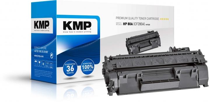 KMP H-T233 Toner Schwarz ersetzt HP 80A (CF280A)
