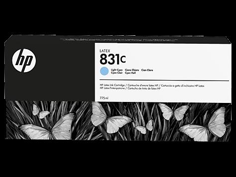 HP 831C Latex-Tinte hell cyan 775 ml (CZ698A)