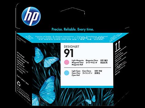 HP 91 Druckkopf light magenta + light cyan - C9462A - MHD 10/2017