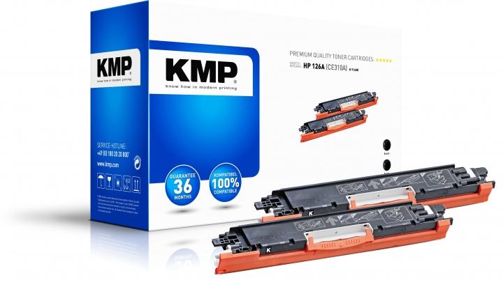 KMP H-T148D Toner Doppelpack Schwarz ersetzt HP 126A (CE310A)
