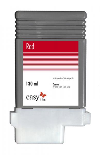 Easy Ink Tintentank Rot für Canon iPF5100, iPF6100, iPF6200 mit kompatibler PFI-103 Tinte, 130ml