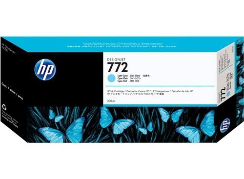 HP 772 Cyan hell DesignJet Tintenpatrone, 300 ml