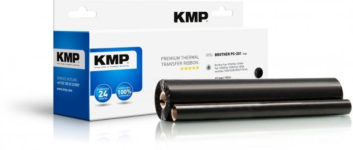 KMP F-B2 Thermotransfer-Rolle Schwarz ersetzt Brother PC201
