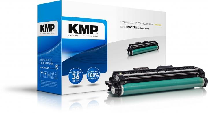 KMP H-DR185 Trommel Schwarz ersetzt HP 126A (CE314A)