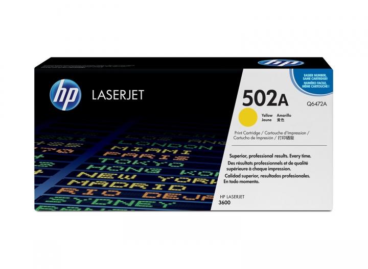 Toner HP Q6472A, Nr 502A gelb 4000 Seiten