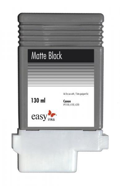 Easy Ink Tintentank Matt Schwarz für Canon iPF5100, iPF6100, iPF6200 mit kompatibler PFI-103 Tinte,