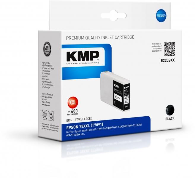 KMP Tinte Schwarz E220BXX ersetzt Epson T7891 (C13T789140)