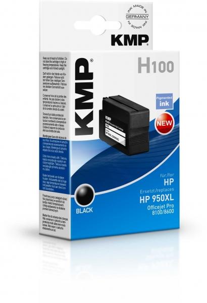 KMP Tintenpatrone Singlepack Schwarz für HP Officejet Pro 8100/8600