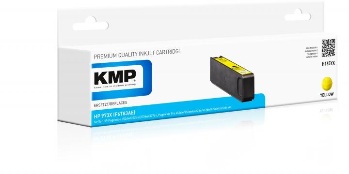 KMP H-165YX Toner Yellow ersetzt HP 973X (F6T83AE)