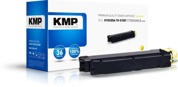 KMP K-T74Y Toner Gelb ersetzt Kyocera TK5150Y (1T02NSANL0)