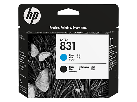 HP 831 Cyan / Schwarz Latex-Druckkopf (CZ677A)