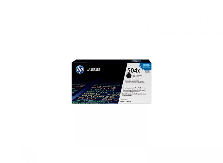 Toner HP CE250X, Nr 504X schwarz 10500 Seiten