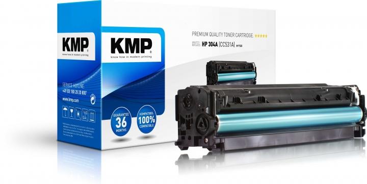 KMP H-T123 Toner ersetzt HP 304A (CC531A)