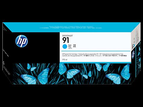 HP 91 Cyan Tinte C9467A - pigmentbasiert - 775 ml - MHD 02/2018