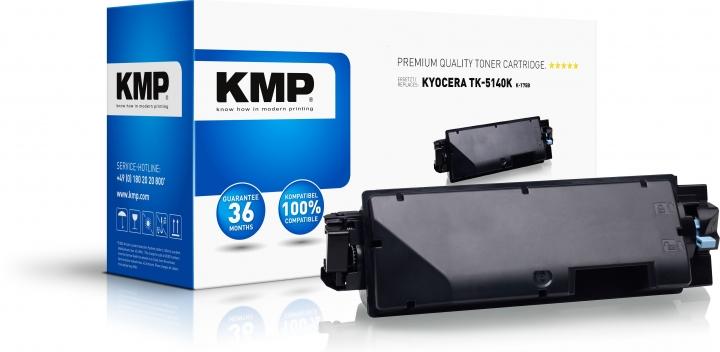 KMP K-T75B Toner Schwarz ersetzt Kyocera TK5140K (1T02NR0NL0)-Copy