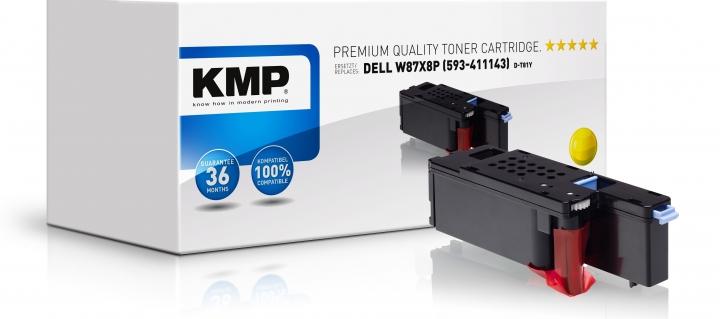 KMP D-T81Y Toner Yellow ersetzt Dell W8X8P (593-11143)