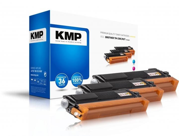 KMP Tinte B-T32CMY MULTIPACK für Brother TN230C, TN230M, TN230Y