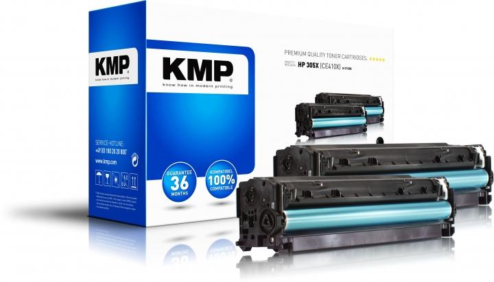 KMP H-T157D Toner Doppelpack Schwarz ersetzt HP 305X (CE410X)