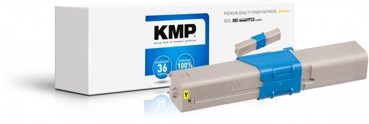 KMP O-T49YX Toner Gelb - ersetzt OKI 44469722