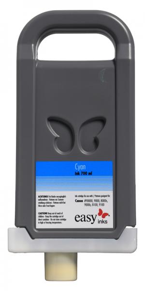 easy inks Tintentank Cyan für Canon iPF8000, 8000s, 9000, 9000s kompatibel zu PFI-701 und PFI-301, 7