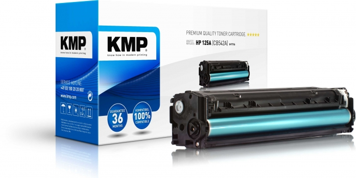KMP H-T116 Toner gelb ersetzt HP 125A (CB542A)