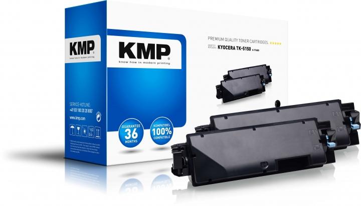 KMP K-T74BD Toner Schwarz Doppelpack ersetzt Kyocera TK5150K (1T02NS0NL0)