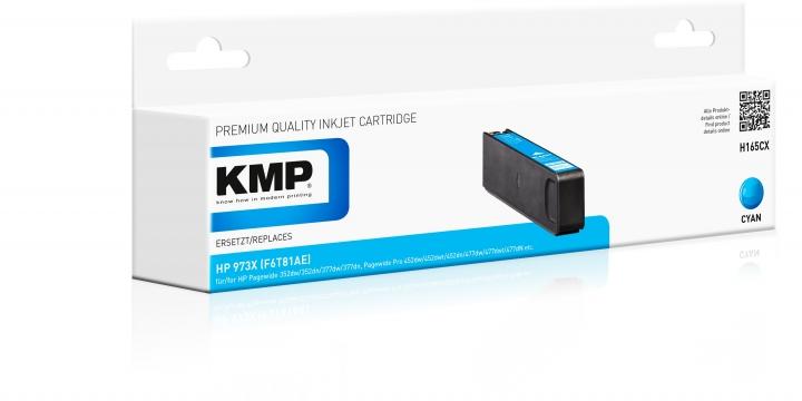 KMP H-165CX Toner Cyan ersetzt HP 973X (F6T81AE)