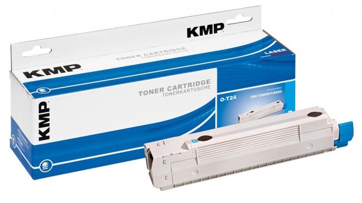 KMP O-T24 Toner für OKI 43487711 / C8600/C8800 cyan