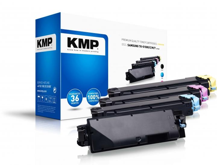 KMP K-T74V Toner Multipack ersetzt Kyocera TK5150K (1T02NS0NL0), Kyocera TK5150C (1T02NSCNL0), Kyoce