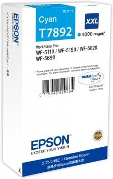 Epson C13T789240 / T7892 cyan XXL Tintenpatrone Original