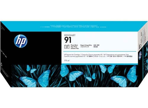 HP 91 Fotoschwarz Tinte C9465A - pigmentbasiert - 775 ml