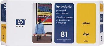 HP 81 Druckkopf + Reiniger gelb No.81