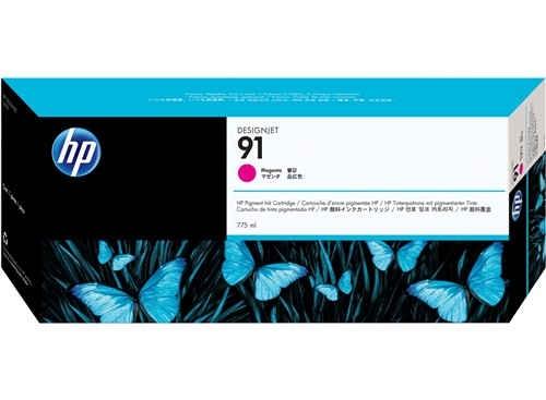 HP 91 Magenta Tinte C9468A - pigmentbasiert - 775 ml - MHD 01/2018