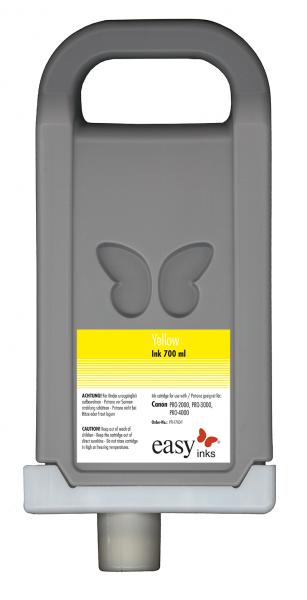 easy inks Tintentank Gelb für Canon PFI-1700 kompatibel für imagePROGRAF PRO-2000, PRO-4000, PRO-