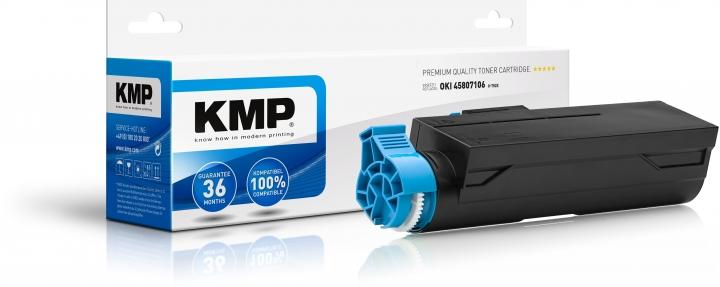 KMP O-T52X Toner Schwarz ersetzt OKI B412dn/B432dn/B512dn, MB472dnw/MB492dn/MB562dnw